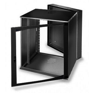 LC-R19-W13U500 Tecno Dzielona Czarna - Wiszące szafy teleinformatyczne 19