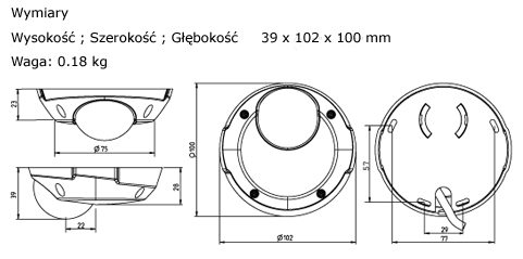AXIS 209MFD Mpix - Kamery kopułkowe IP