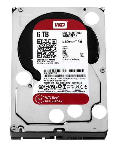 Western Digital dysk HDD WD RED 6TB WD60EFRX SATA III - Dyski sieciowe