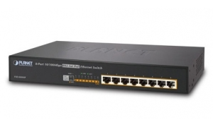 Planet FSD-808HP - Switch 8 x 10/100Mb/s 802.3at PoE