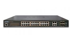 Planet GS-4210-24PL4C - Switch 24x10/100/1000T PoE + 4xTP/SFP